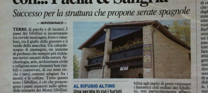 Il Rifugio Altino sul Resto del Carlino e Corriere Adriatico