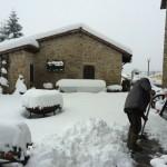 La prima neve della stagione al Rifugio Altino2